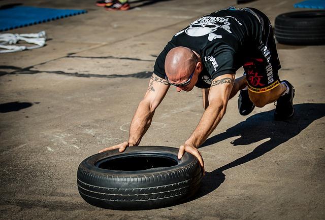 trénink s pneumatikou
