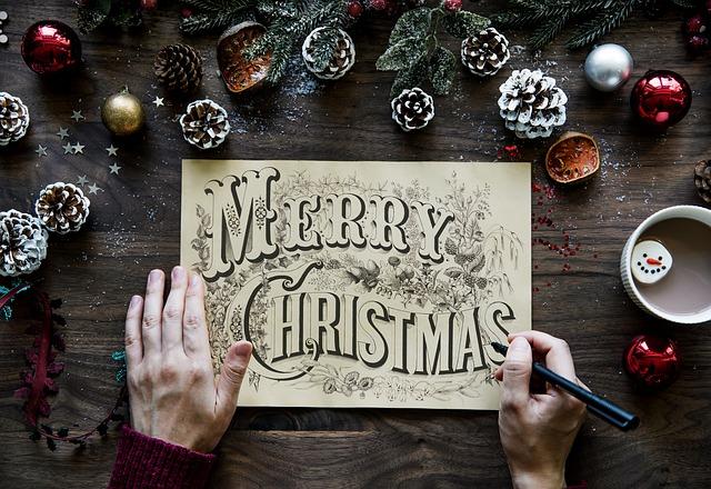 vánoční cedule